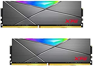 XPG DDR4 D50 RGB 16GB (2x8GB) 3600MHz PC4-28800 U-DIMM 288-Pins Desktop Memory CL18-20-20 Kit Titanium