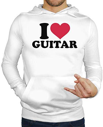 tostadora - Hoodie Ich Liebe Dich Gitarre - Manner Weiß M