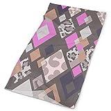 longdai Magic Scarf Kopfbedeckung Moderne geometrische Stirnbänder Bandana Cap Schal Gesichtsmaske Halsmanschette Headwrap Sturmhaube Sonnen-UV-Schutz für Dochtwirkung im Freien