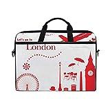 HUAYEXI Bolsa para portátil de 15-15,4 Pulgadas,Lindo Set de Viaje de Londres,Bolso Hombro-Ordenador-Portátil