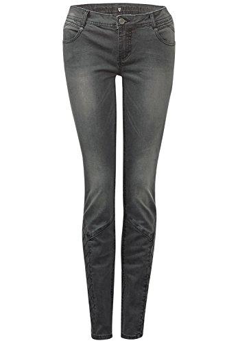 Street One Damen Slim Stitching-Denim Raja 32 dark grey washed 29