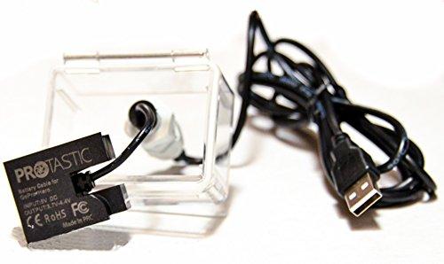 Cable de alimentación USB eliminador de baterías impermeable para cámaras de acción...