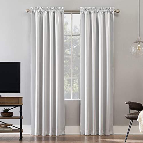 "Sun Zero Oslo Theater Grade Extreme 100% Blackout Rod Pocket Curtain Panel, 52"" x 84"", Pearl"