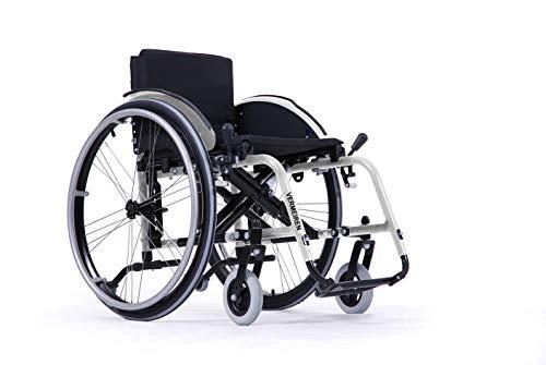 Rollstuhl für aktive Rehabilitation für junge dynamische Menschen | Sitzbreiten 36 cm - 52 cm| Maximale Belastbarkeit: 80 kg | Vermeiren ESCAPE L (Sitzbreite 38cm)