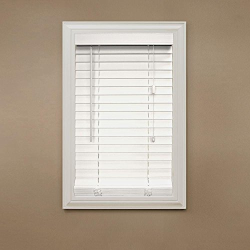 Home Decorators Collection White Faux Wood Blind, 2 in. Slats (Price Varies by Size)