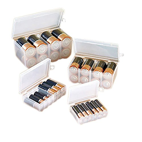 BATTERY STORAGE CASE SET (4PC SET FOR ALL OF YOUR BATTERY STORAGE NEEDS!)
