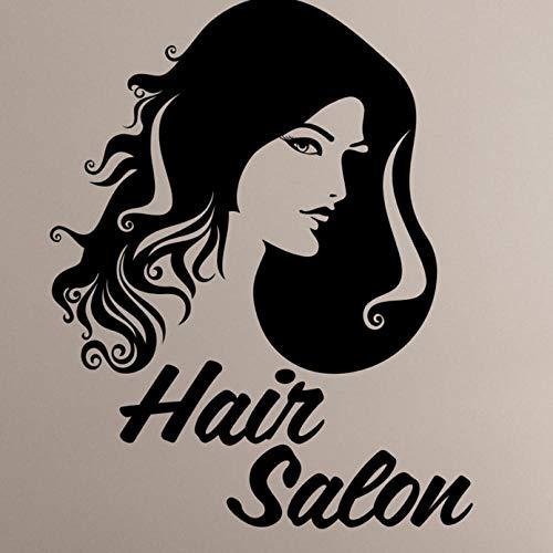 Pegatinas De Pared Peluquería Pegatinas De Pared De Vinilo Para Niñas Salón De Belleza Tatuajes De Pared Mujer Barbería Arte Decoración Corte De Pelo Ventana Extraíble