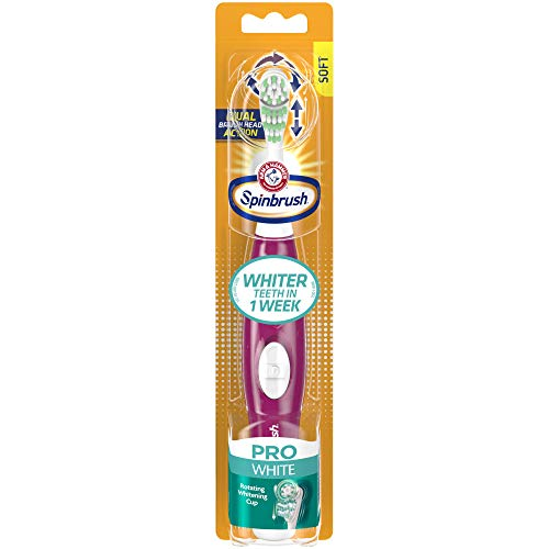 Spinbrush Prowhitening Battery Powered Toothbrush, Soft (Colors May Vary) by Spinbrush