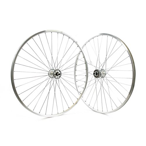 RIDEWILL BIKE Coppia Ruote 28'' bussole Vintage Fixed Radiale Silver (Scatto Fisso) / Pair 28'' Wheels eyeletted Vintage Fixed Radial Silver (Fixed Wheel)