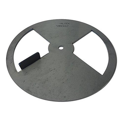 "LavaLock Smoker Pinwheel BBQ air Damper Pit Grill Vent, Steel 4 6 8 12 (8"" Diameter)"