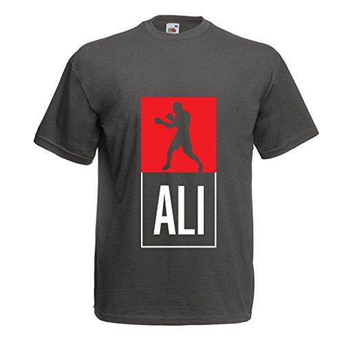 lepni.me Maglietta da Uomo La Boxe - in Stile Fight per la Formazione, Sport, Esercizio Fisico, Corsa, Vestiti di Fitness (X-Large Grafite Multicolore)