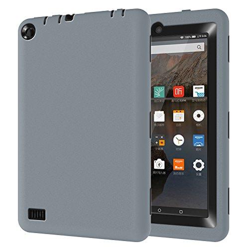 Y&M Kindle Fire 7Pulgadas Funda, y & (TM) a prueba de golpes/resistente de alta impacto resistente rígida PC + Suave Silicona Funda protectora para Amazon Kindle Fire 7(2015liberación)