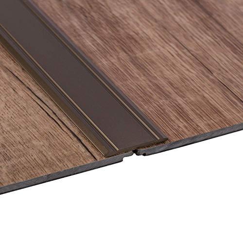 Gedotec perfil transición autoadhesivo SUPERFLACH riel Aluminio bronce anodizado | Ancho 30 mm | Longitud 200 cm | Perfil suelo laminado - baldosas - parquet UVM. - compensación de aluminio - 1 pieza