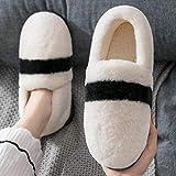 zapatillas de casa para mujer verano,Zapatillas de algodón para mujer bolso lindo de invierno con modelos de primavera y otoño interiores antideslizantes para el hogar, zapatos de confinamiento de su
