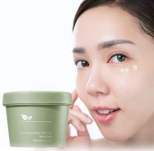 Mascarilla de barro limpiador refrescante de té verde, mascarilla de