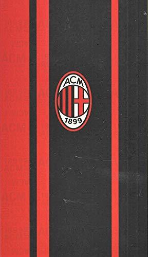 Telo Mare Ac Milan in Spugna di Puro Cotone Cinigliata Maxi cm 90 x 170