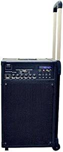 70 WATT Portable PA System MVP2005U Rechargeable Amplified with built-in DVD Player, 2-channel Wireless Lapel and Handheld Microphones