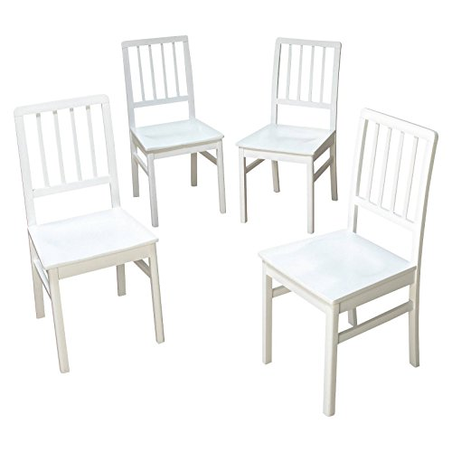 Target Marketing Systems TMS Camden Dining Chair, White Wash, Set of 4