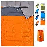 oaskys Camping Sleeping Bag - 3 Season Warm & Cool Weather - Summer, Spring, Fall, Lightweight,...