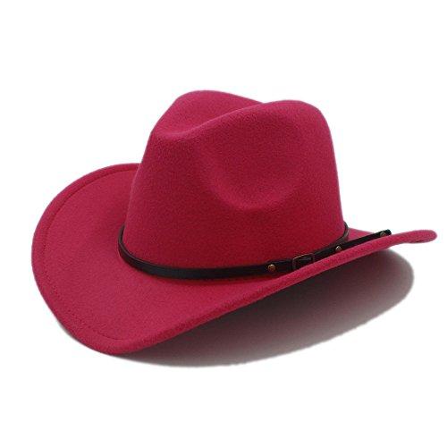 HYF Männer Western Cowboy Hut Für Gentleman Cowgirl Jazz Church Cap Mit Leder Toca Sombrero Cap Resistol Cowboy Hüte (Farbe : 7, Größe : 57-58CM)