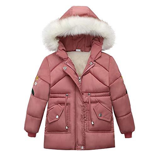 unbrand Abrigos Niña, Chaqueta con Capucha de Invierno para niñas, Chaqueta de Piel sintética Parka Chaquetas Escolares Outwear