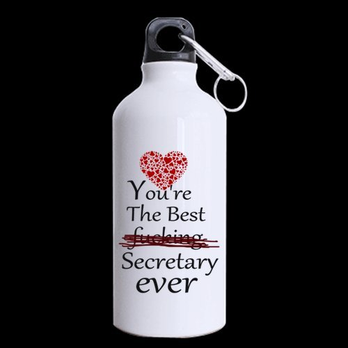 Father's Day Dads/Fathers Gifts Funny Quotes You're the best fucking Secretary ever Tea And Water Cup 100% Aluminum 13.5 OZ Sports Bottles