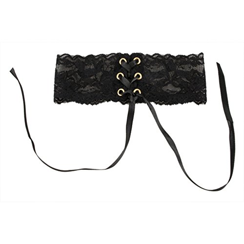 EQT-FASHION Satin Strass Damen Frauen Gothic Halsband Halskette Schleife Hals Band Kette