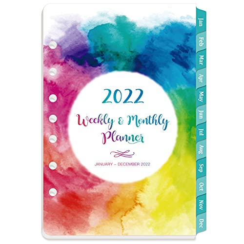 2022 Planner Refills - Weekly & Monthly Planner Refill, 5-1/2' x 8-1/2', January 2022 - December 2022, 7-Hole Punched