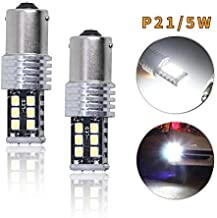 for KIA cerato 12V Super Bright P21 5W BAY15D LED Brake Stop Light Source Error Free White Car Lamp Replacement Bulbs Pack of 2