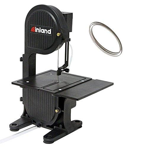 Inland Craft DB-100 Tabletop Band Saw Machine | Wet Saw Glass Stone Plastic Coral | Includes Diamond Band Saw Blade