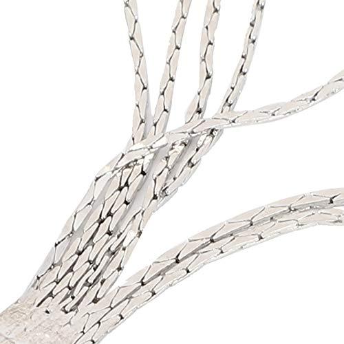 4 Piezas Pinzas para Zapatos Brillantes Botas de Mujer exquisitas Hebilla Cadena de Garra para decoración de Zapatos de Boda Vestido de Novia Ropa(White)