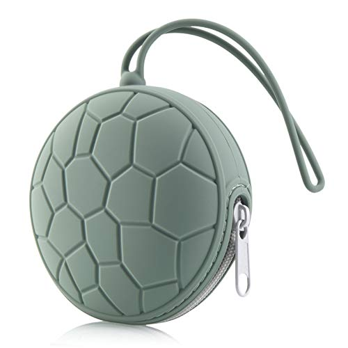 Vicdozia Silicone Pacifier Holder Case for Diaper Bag Home Travel Outdoor Activities(Army Green)