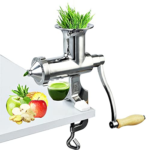 CNCEST Manuelle Entsafter Maschine - Weizengras Saftpresse Squeezer Obst Gemüse Entsafter Edelstahl für Entsafter Weizengras Gemüse Blattgemüse BL-30