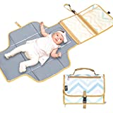 Portable Diaper Changing Pad Bag, Waterproof Disposable Diaper Changing Mat with Built-in Head Cushion, Travel Changing...