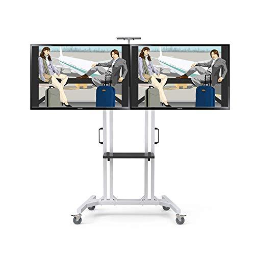 """KBKG821 Möbel-Flachbildschirm-TV-Ständer und Unterhaltungskonsolenwagen, für Flachbildschirm-LED-LCD-Plasma-Bildschirm 32\""""bis 60\"""" 360º Schwenkhöhe"""