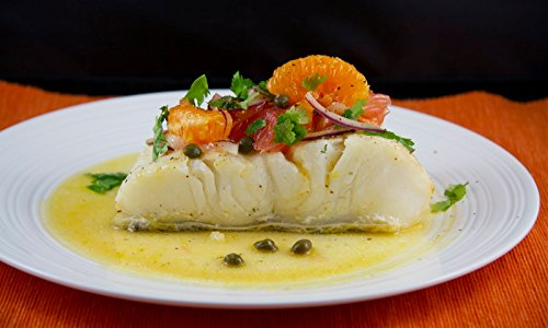 2 X 8 Oz. (1.0 Lb.) Chilean Sea Bass Fillets, Wild Caught, Skinless, Individually Vacuum Packed, Ready to Cook.