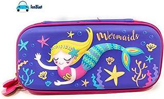 FunBlast Multipurpose Zipper Pencil Case, Pen & Pencil Pouch Bag Case for School Supplies for Kids (Mermaid Pencil case)