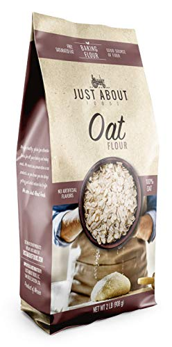 Just About Foods Oat Flour 2 lb Vegan Gluten and Sugar Free