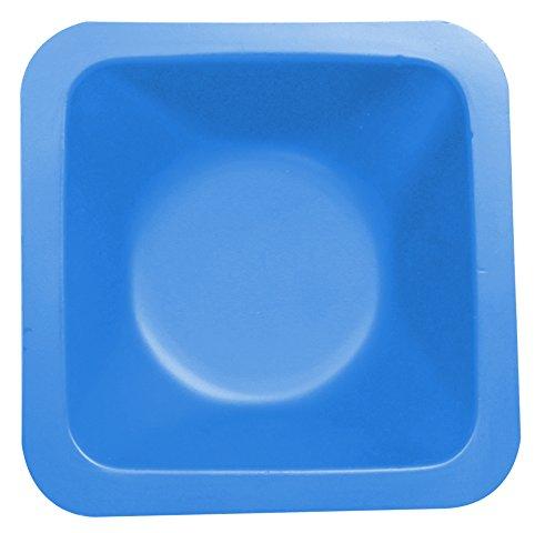 Heathrow Scientific HD120222 Wägeschälchen, Standard, Antistatisch, Polystyrene, 46 mm Länge x 46 mm Breite x 8 mm Tiefe, Blau (500-er Pack)