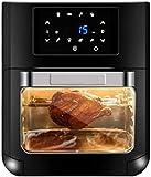 Mini horno Hogar multifuncional 12L Capacidad 360 ° Tambor de acero inoxidable Rotación de la jaula Diseño compacto 1700W Herramientas de cocina Negro