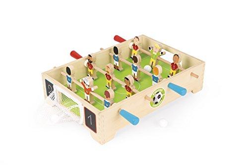 Janod - Mini Babyfoot de Table en Bois Champions - dès 3 Ans, J02070, Multicolore