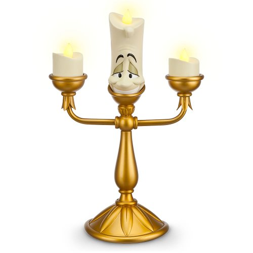 Disney Parks Exclusive Beauty and the Beast Light-Up Lumiere Candlestick Figure by Disney