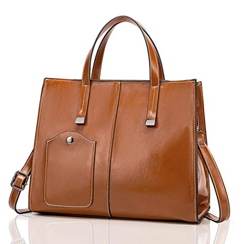 TEBIEAI Women's Top-handle Bags Handbags Hobos PU Leather Designer Shoulder Bags TEUK71113 Coffee
