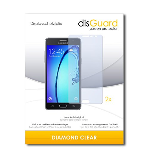disGuard 2 x Bildschirmschutzfolie Samsung Galaxy On5 Schutzfolie Folie DiamondClear unsichtbar
