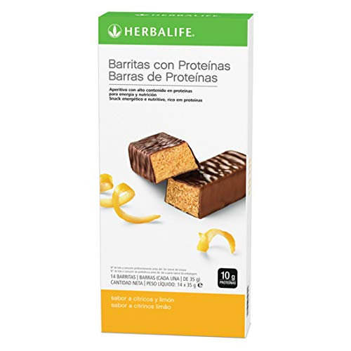 Herbalife - Barritas con Proteínas sabor a Limón 14 x 35 g