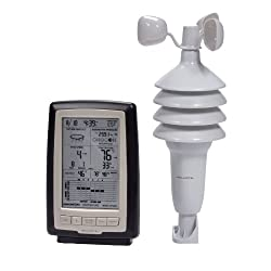 AcuRite 00638A2 Wireless Weather Station with Wind Sensor,Black and Metal