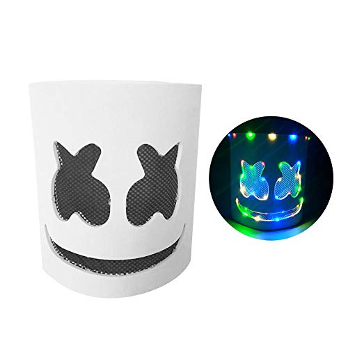 Binwe DJ Hood, LED Luminous DJ Colorful Luminous Marshmallow