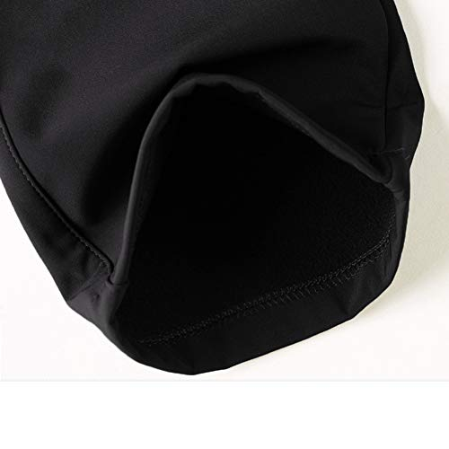 TACVASEN Fleece Trousers for Men Hiking Warm Trousers Casual Waterproof Walking Trousers Mens Sports Pants Black