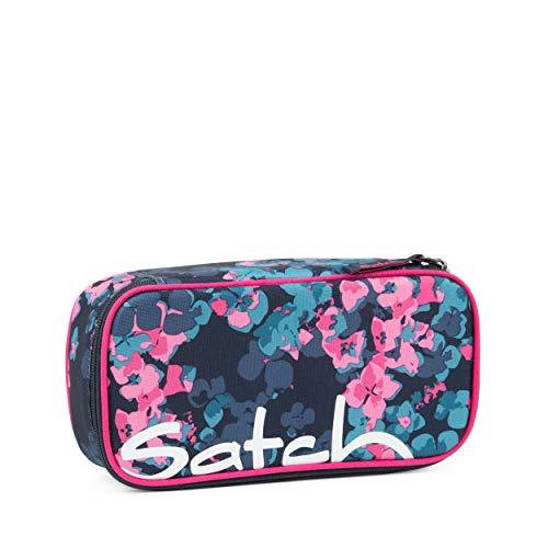 Satch Schlamperbox - Mäppchen groß, Trennfach, Geodreieck - Awesome Blossom - Blau