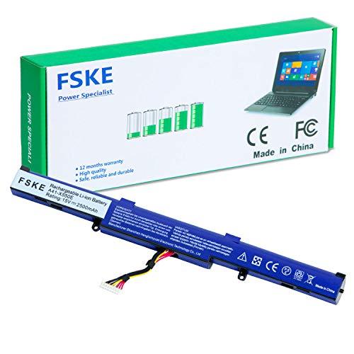 FSKE® A41-X550E Batería para ASUS F751L F550D F550DP F450C R752 X450 A450 K450J Serie Notebook Battery 4-Celdas 15V 2500mAh